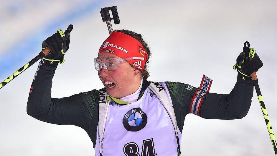 Laura Dahlmeier ist eine deutsche Hoffnung bei der Biathlon-WM.
