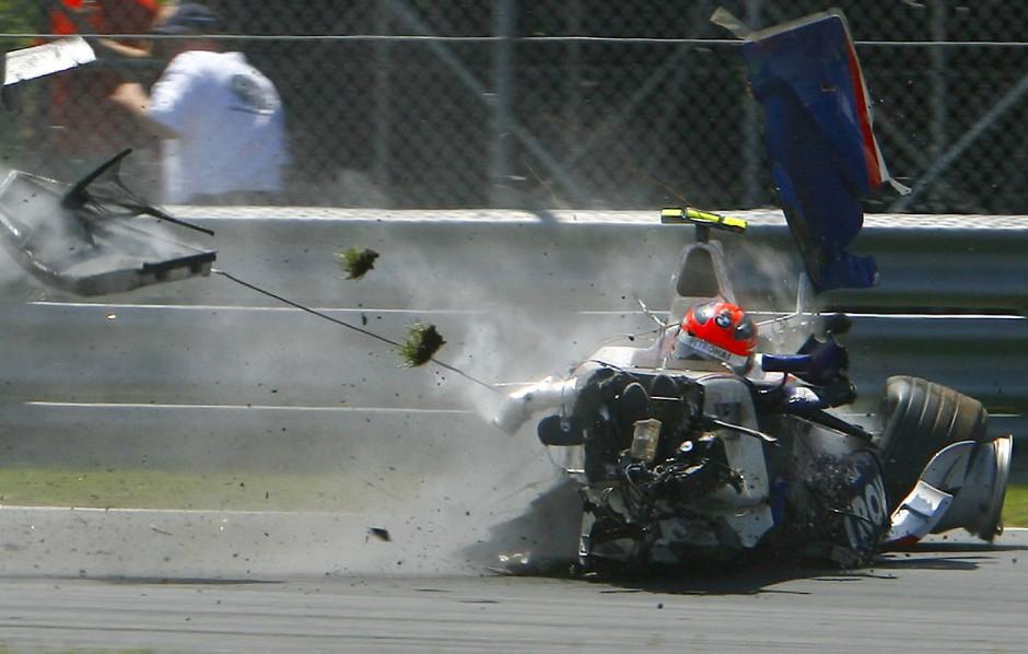 Auch in der Formel 1 war Kubica schwer verunglückt, 2007 in Montreal.