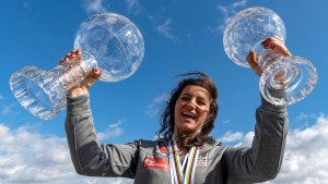 Hofmeister feiert auf Olympiaturm