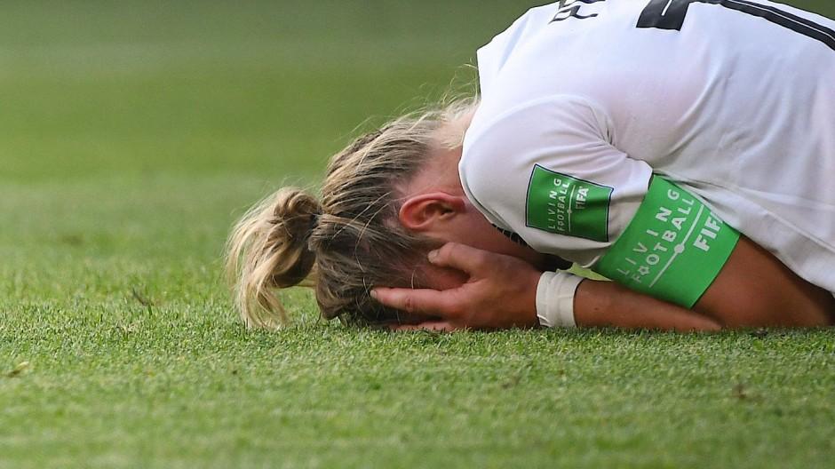 Die deutsche Fußballfrauen um Alexandra Popp scheiden bei der WM im Viertelfinale aus.