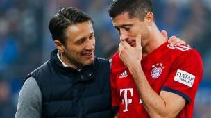 Gute Laune bei den Bayern: Trainer Niko Kovac (links) und Stürmer Robert Lewandowski.
