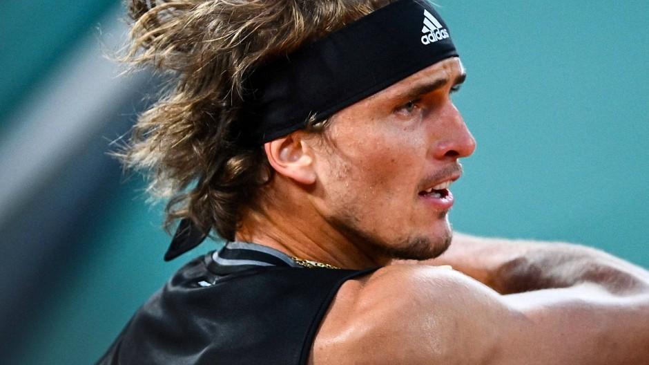 Wild entschlossen: Zverev stürmt ins Viertelfinale der French Open.