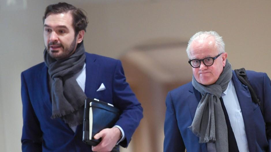 DFB-Generalsekretär Friedrich Curtius (links) und Präsident Fritz Keller (Bild von März 2020)