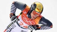 """""""Es ist brutal wichtig für ein Team, wenn mehrere Jungs wirklich vorne mitfahren können"""": Fritz Dopfer landet im Slalom auf Platz 26."""