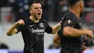 Motor der Eintracht beim Sieg gegen Lissabon in Frankfurt: Filip Kostic erzielte das 1:0.
