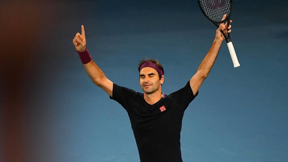 Sieg nach denkwürdigem Tiebreak im fünften Satz: Roger Federer erreicht das Achtelfinale.