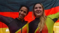 Golden Girls: Mariama Jamanka (links) und Anschieberin Lisa-Marie Buckwitz.