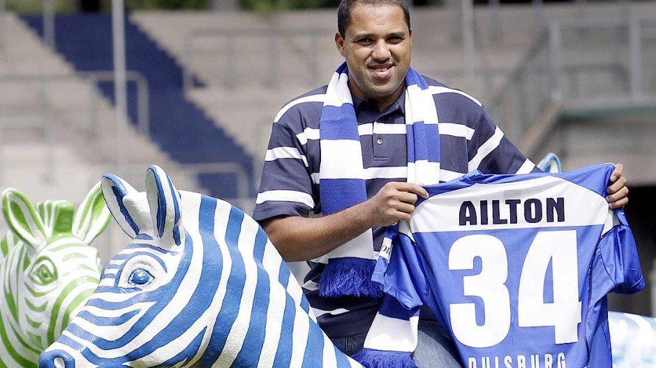 Große MSV-Träume: Ailton in der Saison 2007/08 im Zebra-Dress
