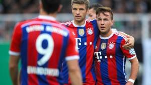 Die Bayern in der Defensive
