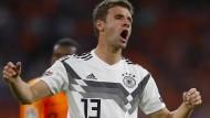 Es müllert nicht mehr: Thomas Müller blieb wieder torlos im DFB-Team.