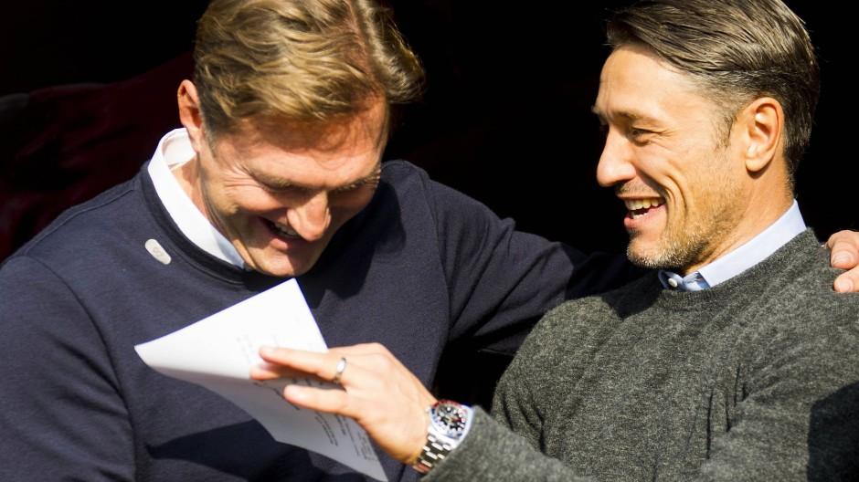 Ziemlich gute Laune: die Trainer Hasenhüttl (links) und Kovac.