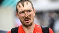 Schwer gezeichnet: John Degenkolb nach Paris-Roubaix