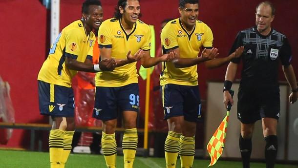 Lazio mit später Aufholjagd