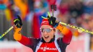"""""""Nur eine vor mir, das kann ich noch gar nicht glauben"""": Franziska Preuß wird Zweite in Ruhpolding"""