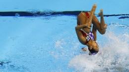 Das schwache Bild des Schwimmens
