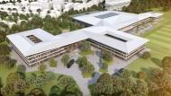 Alles unter einem Dach: 2021 soll das DFB-Leistungszentrum in Frankfurt eröffnet werden.