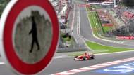 """Nur für echte Rennfahrer geeignet: Mit 300 Kilometern pro Stunde durch """"Eau Rouge"""""""