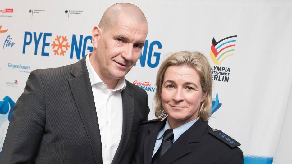 Umstrittenes Paar in der deutschen Eisschnelllauf-Szene: Claudia Pechstein und ihr Lebensgefährte Matthias Große