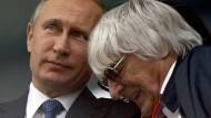 Gesprächsbedarf in Sotschi: Bernie Ecclestone (rechts) mit Wladimir Putin.