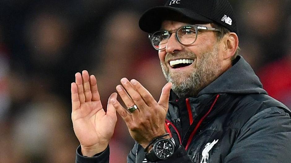Jürgen Klopp hatte viel Spaß beim Spiel seines FC Liverpool gegen Tottenham.