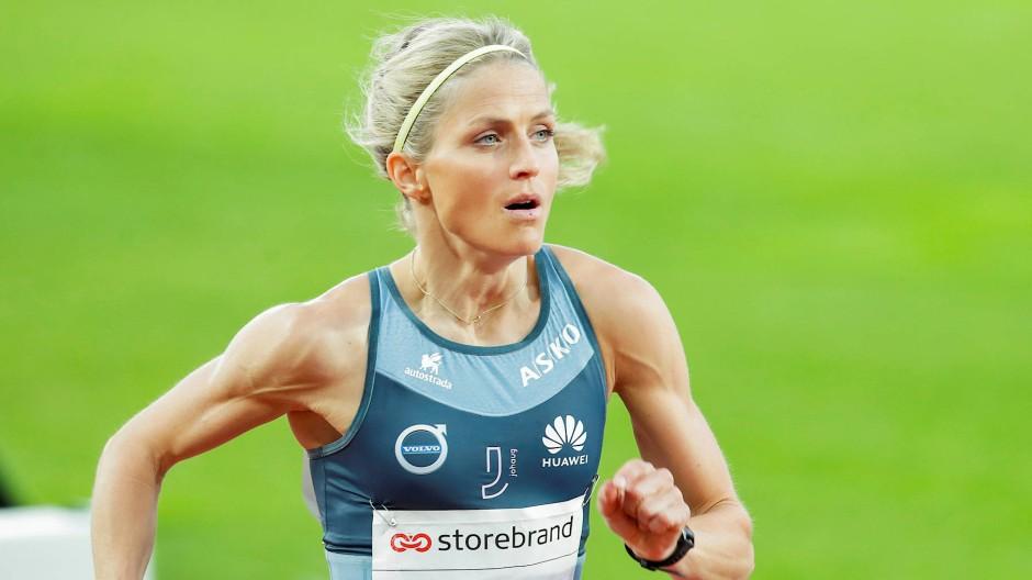 """Findet es """"cool"""", auch ohne Schnee zu laufen: Therese Johaug"""