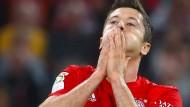 Zwei Tore von Robert Lewandowski reichen den Bayern nicht zum Sieg.