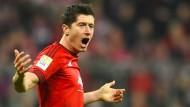 Geht doch: Robert Lewandowski erlöst die Bayern