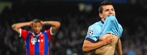 Beispielhaft für diese Europapokal-Woche: Sergio Agüero trifft für ManCity, die Bayern haben das Nachsehen