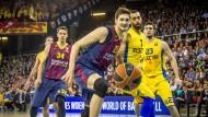 Neuer Verein, neue Ziele: In Barcelona ist für Tibor Pleiß (Nummer 21) Schluss