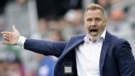 Austria-Wien-Trainer Thorsten Fink verliert die Contenance im Fernsehen.