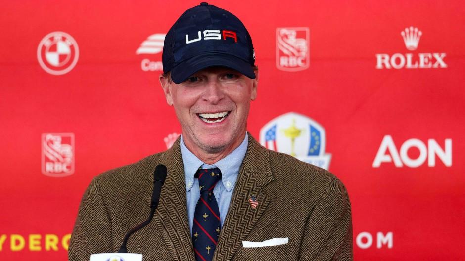 Heimspiel in Wisconsin: Steve Stricker gibt alles für das Team USA.