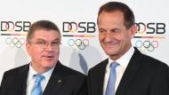 IOC-Präsident Thomas Bach (links) und DOSB-Präsident Alfons Hörmann, hier 2016
