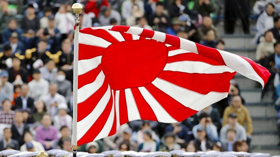 """Objekt des Ärgers: Die """"Flagge der aufgehenden Sonne"""" ist für Südkoreaner eine Provokation."""
