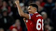 Liverpools Trent Alexander-Arnold in der Champions League.
