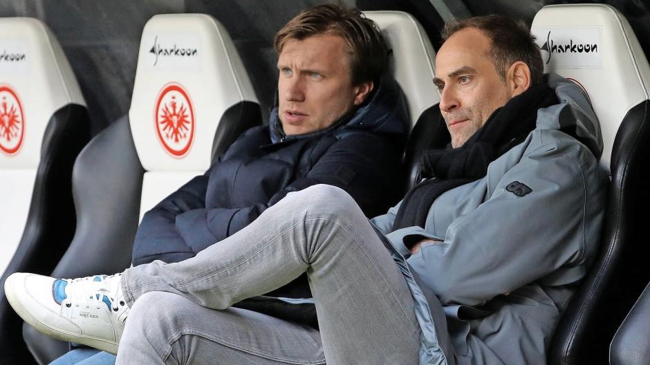 Der Neue: Markus Krösche (links) kommt, weil der Leipziger Geschäftsführer Oliver Mintzlaff ihn vorzeitig aus dem Vertrag gelassen hat.