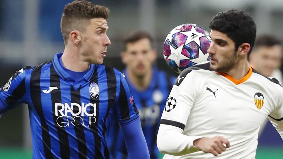 Das Spiel null in Italien: Atalanta Bergamo gegen FC Valencia in der Champions League am 19. Februar in Mailand.