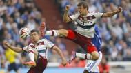 Kung-Fu-Müller: Der Bayern-Stürmer wäre in dieser Haltung auch in mancher Kampfsportart klasse