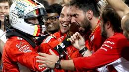 Vettel gewinnt mit abgefahrenen Reifen