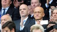 Bei der EM Zuschauer, bei der Fifa Aufräumer: Gianni Infantino