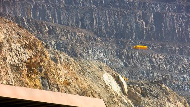 Arbeiten in einer Goldmine von Newcrest Mining in Australien