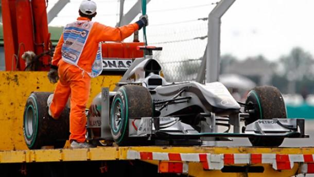 Verkehrte Welt bei Mercedes GP