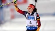 Kaum aus der Ruhe zu bringen: Dank Laura Dahlmeier geht es mit dem deutschen Frauen-Biathlon wieder aufwärts