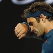Enttäuschung nach dem Aus: Roger Federer verliert bei den Australian Open das Achtelfinale.