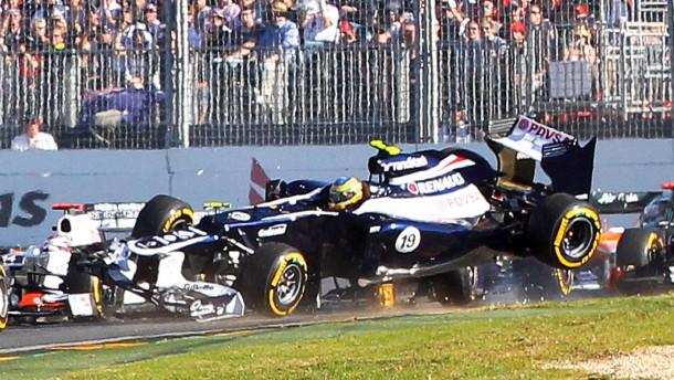 Ausgehebelt: Das rennen von Bruno Senna im Williams war direkt nach dem Start schon gelaufen