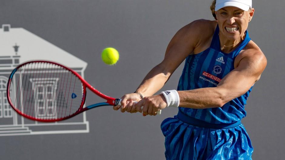 Kraftausdruck: Angelique Kerber versteht sich durchaus noch als Tennisprofi.