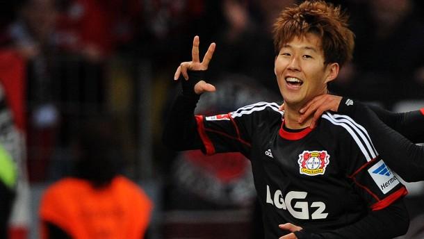 Son scheint über Leverkusen