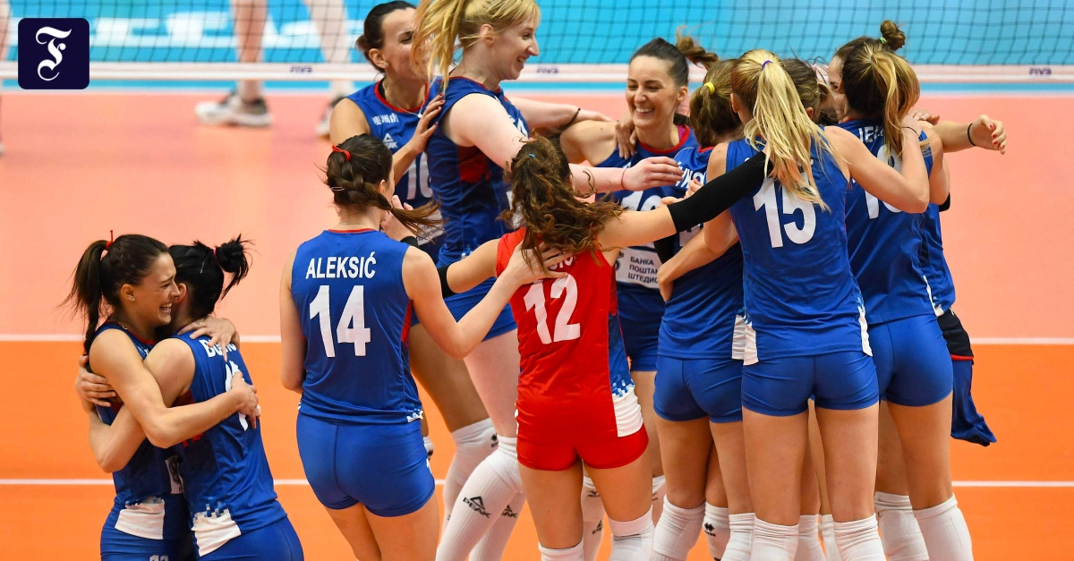 Serbinnen nach Final-Sieg über Italien erstmals Volleyball