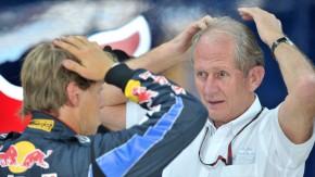 Verschwörungstheorien helfen nicht weiter: Helmut Marko (rechts) und Vettel