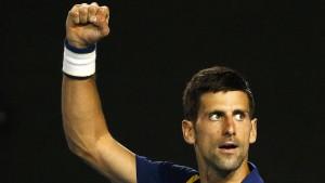 Djokovic ist bereit für Federer