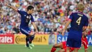 Kagawa hat abgezogen: Japan gewinnt überlegen gegen Palästina